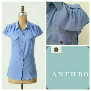 MAEVE PERIWINKLE delicate corps blouse 4